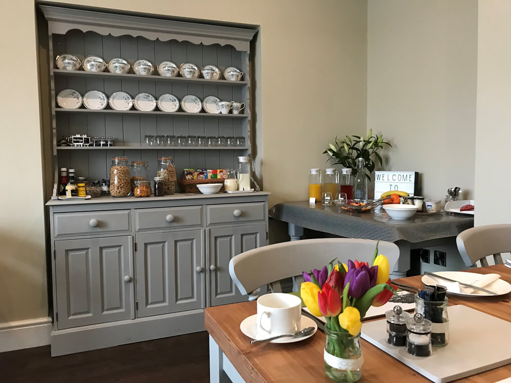 Spring breakfast table